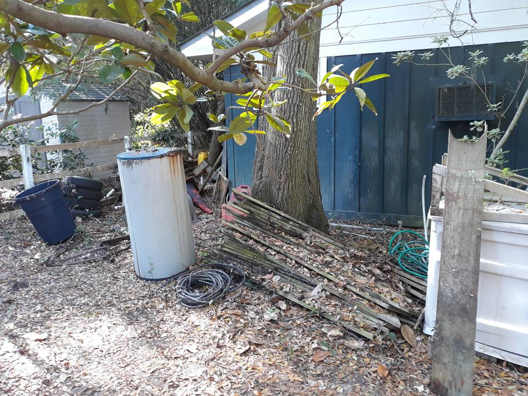 Trash Outside Of Home Junk Removal Service Something Old Salvage 6505 North W Street Pensacola FL 32505 850 758 9900 www.somethingoldsalvage.com